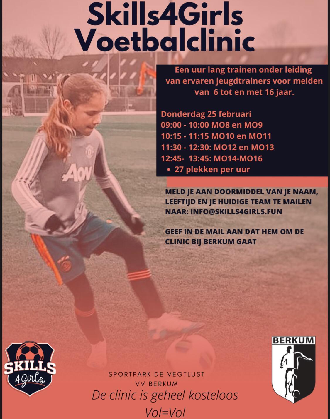 Skills4Girls voetbalclinic