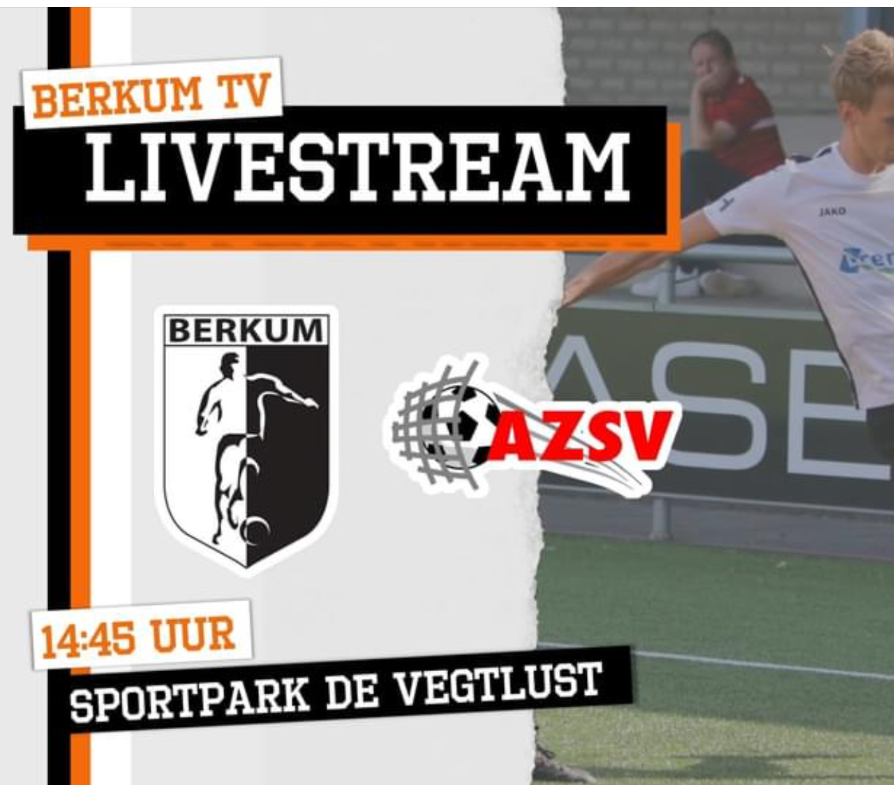 BERKUM TV live bij de thuiswedstrijden van Berkum 1