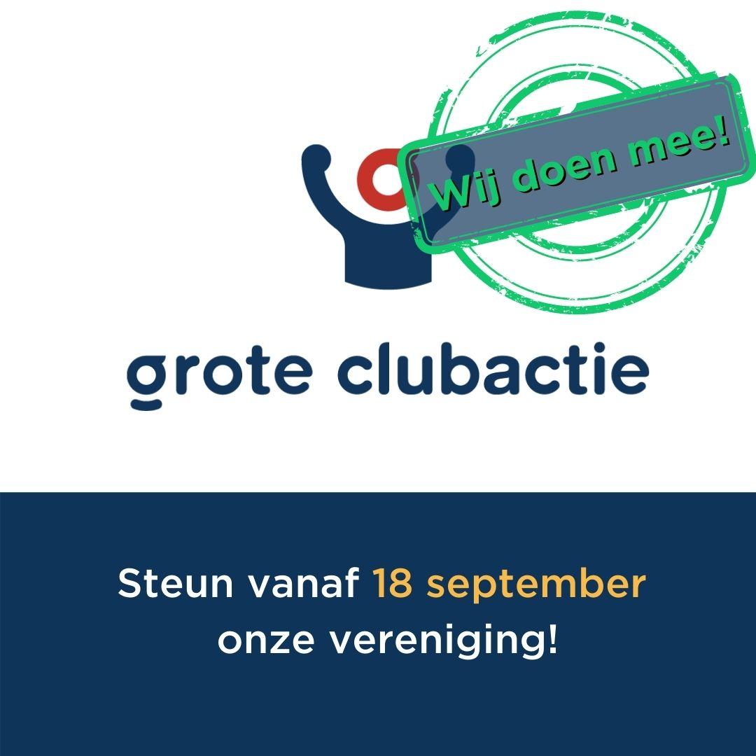 De Grote Clubactie gaat van start!!