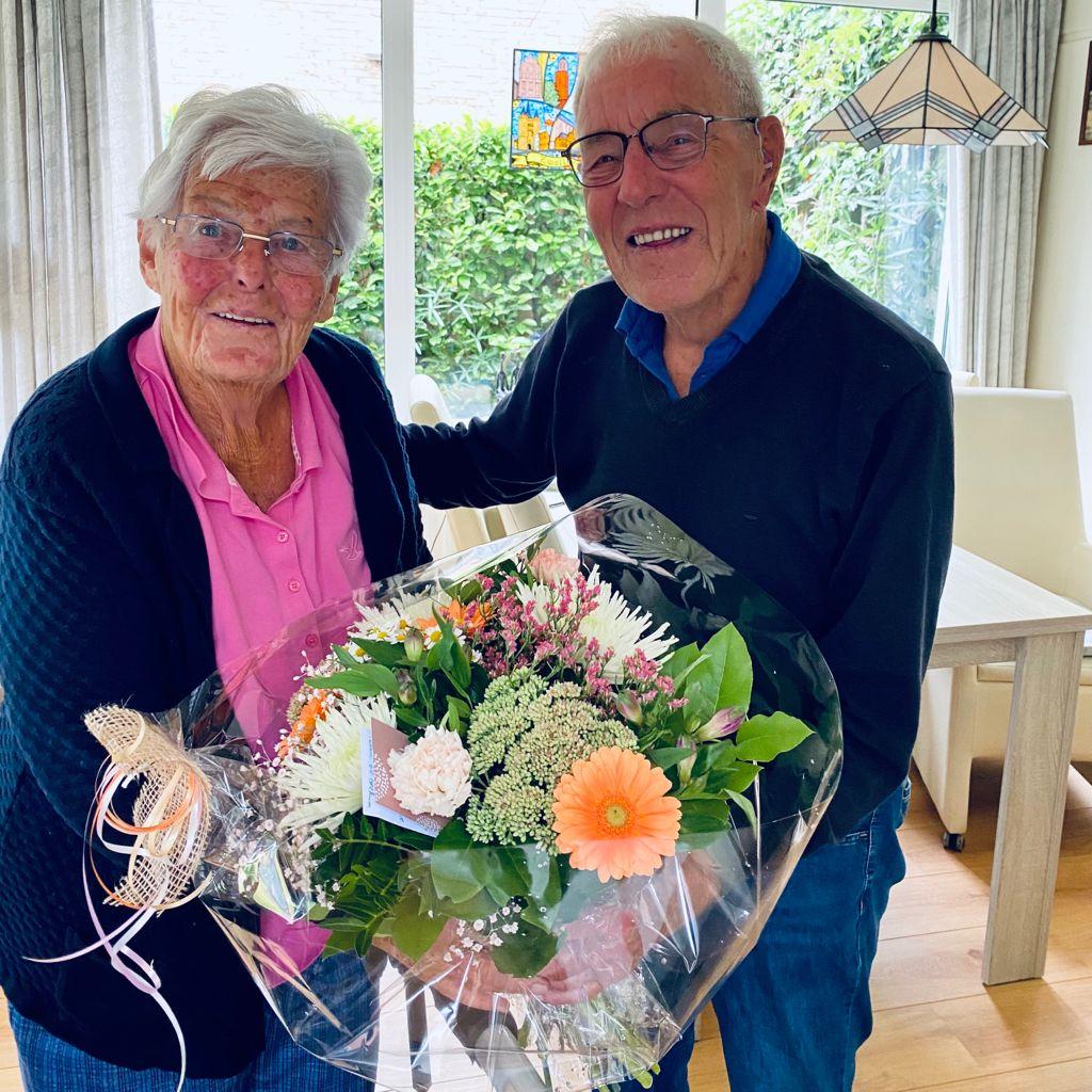 Oud voorzitter VV Berkum 65 jaar getrouwd